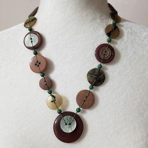 Jewelry - ❤ Button Boho Statement Necklace